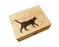 Шкатулка средняя (160х110 мм) Черная кошка