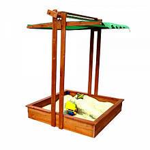 Детская деревянная песочница  для детей Песочница с крышкой-5