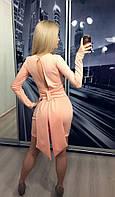"""Платье """"Бант"""" с вырезом на спине 209 (АБ)"""