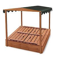 Детская деревянная песочница  для детей Песочница деревянная-4