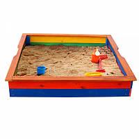 Детская деревянная песочница  для детей Детская песочница- 25