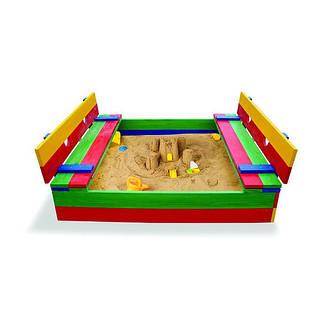 """Детская деревянная песочница """"Песочница цветная-11"""", фото 2"""