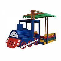 Детская деревянная песочница  для детей Песочница - Паровоз-18