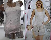 Женская пижама майка+шорты Pink Secret, Турция, хлопок, 44-46