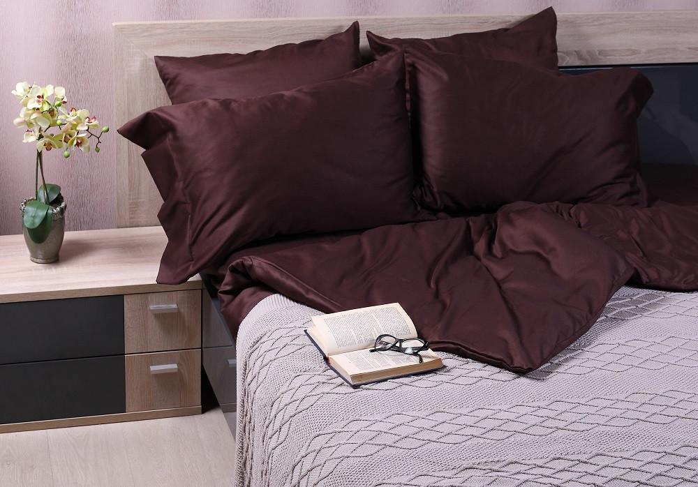 Комплект постельного белья евро Dark Brown