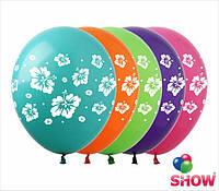 """Воздушные шарики Гавайские цветы 12"""" (30 см)  ТМ Show"""