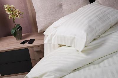 Простынь на резинке 180х200х20см Vanilla Stripe