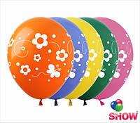 """Воздушные шарики Фиори и бабочки 12"""" (30 см)  ТМ Show"""