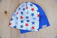 Набор трикотажных шапочек Звезды, 3 размера, 42 - 54 см