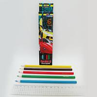 """Карандаши дерево цветные """"Sport Car"""" 6 цв., в картоне, европ. J. Otten /6 /480"""