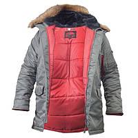 Куртка зимова Аляска Slim Fit N3B сіра CHAMELEON