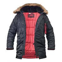 Куртка аляска мужская N3B / Куртка зимова Аляска Slim Fit N3B чорна CHAMELEON