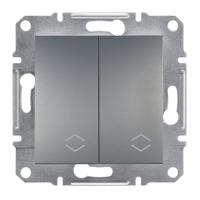 Перемикач 2-клавішний прохідний сталь Asfora Sсhneider Eleсtriс