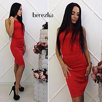 Женский модный костюм: кружевной топ и юбка-карандаш (6 цветов), фото 1