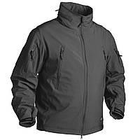 Куртки тактические Soft Shell / Куртка Soft Shell GUNFIGHTER чорна HELIKON