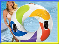 Надувной круг Интекс «Вихрь цвета» (119 см- диаметр)