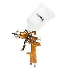 Пистолет покрасочный пневматический HVLP, форсунка 1,5 мм, В/Б пластик, 600 мл., 3.0 bar, фото 2