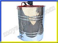 Поворотная медогонка на 3 рамки (нержавеющая сталь)