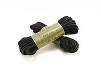 Шнурівки 220 см чорні Mil-Tec
