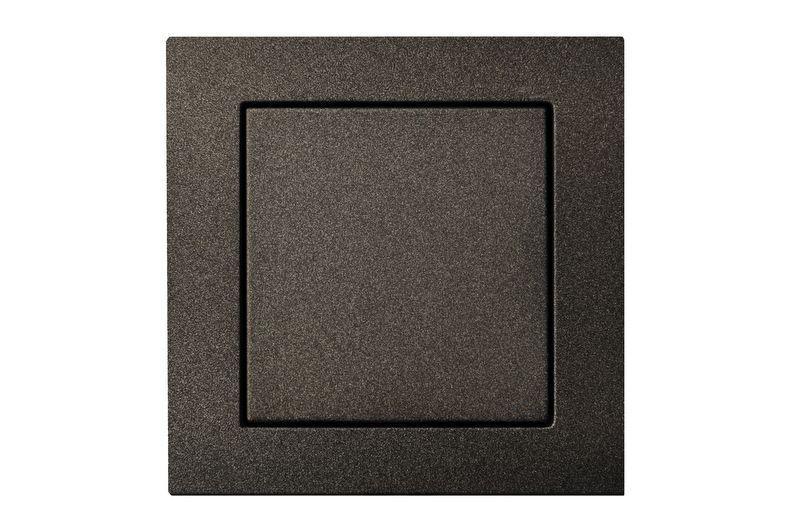 Выключатель 1 клавишный с подсветкой, антрацит, Epsilon