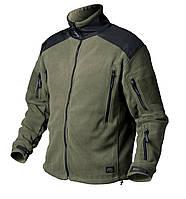 Флисовая куртка для мужчин / Куртка флісова LIBERTY чорна/олива HELIKON