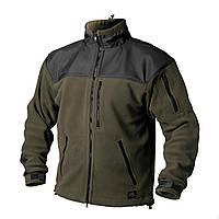 Тактическая флисовая куртка / Куртка флісова CLASSIC ARMY олива/чорна HELIKON
