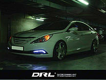 Дневные ходовые огни LED (DRL) - Hyundai YF Sonata / i45 (GOGOCAR), фото 2