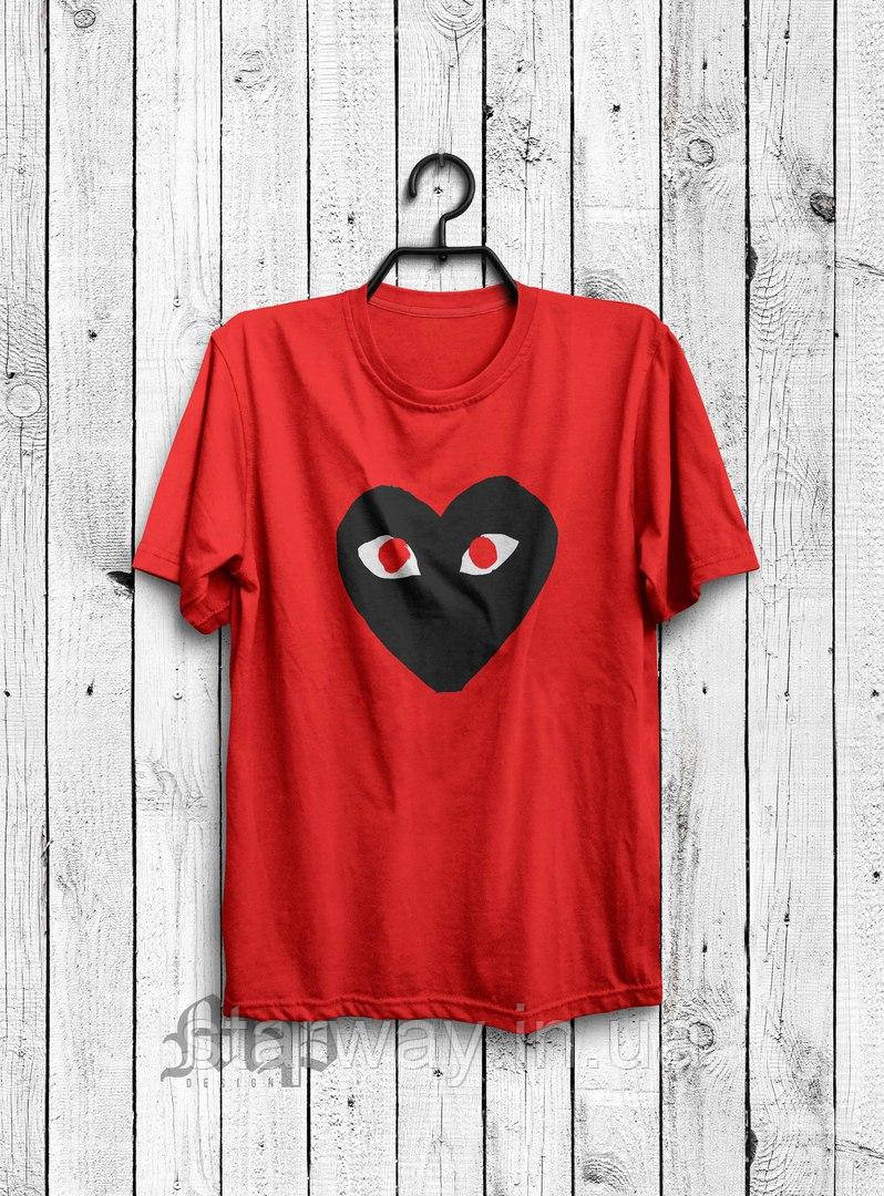 Футболка | Comme des Garcons logo red eyes