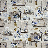 Ткань для штор Морская тема