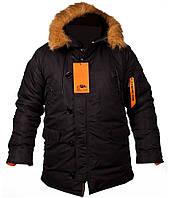Куртка зимова Аляска N3B чорна CHAMELEON