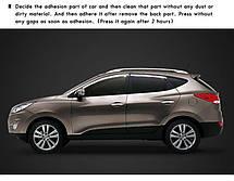 Дефлекторы боковых окон K-711 (ХРОМ) - Hyundai (New) Tucson iX (KYOUNG DONG), фото 3