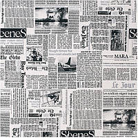Ткань для штор и мебели Газета