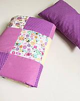 Детский конверт - одеяло +подушка (80х80см, весна-осень, подкладка-синтепон; подушка - 30х40 см)