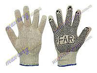 """Перчатки рабочие """"Far"""" 2 -сорт, ХБ, плотность: 600 г. 12 пар/уп. Китай"""
