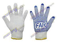 """Перчатки рабочие """"Far"""" 1 -сорт, ХБ, плотность: 850 г. 12 пар/уп. Китай"""