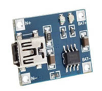 Контроллер заряда на TP4056 вход mini USB, фото 1