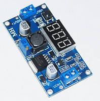 Регулируемый понижающий импульсный модуль питания LM2596-DI-G с вольтметром на базе LM2596
