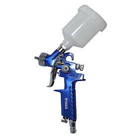 Пистолет покрасочный пневматич. HVLP мини, форсунка 0.8 мм, верхн. подача, бачок 125 мл, 3.0 bar
