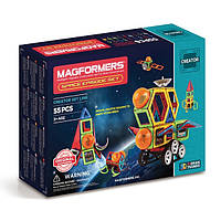 Магнитный конструктор Космический эпизод, 55 элементов, Фантазер, Magformers