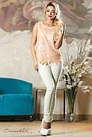 Женская персиковая блуза  2159  Seventeen 44-48 размеры