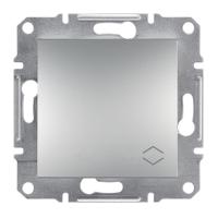 Переключатель 1-клавишный (выключатель проходной) алюминий Asfora Sсhneider Eleсtriс