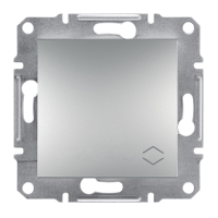 Перемикач 1-клавішний вимикач прохідний) алюміній Asfora Sсhneider Eleсtriс