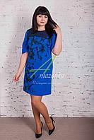 Нарядное женское платья с цветочным принтом - разные цвета - Код пл-163а, фото 1