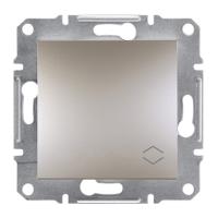 Перемикач 1-клавішний вимикач прохідний) бронза Asfora Sсhneider Eleсtriс