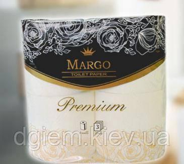 Туалетний папір Марго Ргеміим 3слоя, 4рул. білі