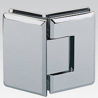 Соединитель стеклянных элементов душевой кабины, 6-10 мм, 180 °. хромированная