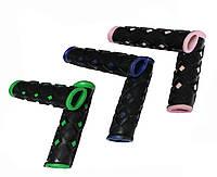Ручки для самоката №01, обрезиненные, 130*21 мм, разн. цвета, 2 ед.