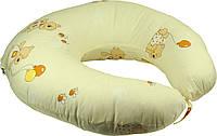 Подушка для кормления с наволочкой 65х65 см РУНО (909_Бежевый)