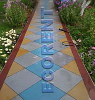 Резиновая плитка для дачных садовых дорожек 500*500*20, 30мм