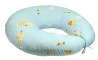Подушка для кормления с наволочкой 65х65 см РУНО (909_Голубой)